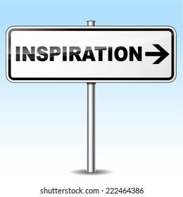 Vector illustration of inspiration design sign on white background