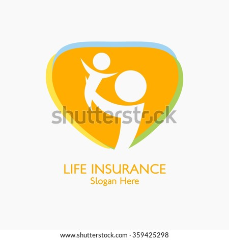 vector illustration insurance logo insurance concept のベクター画像