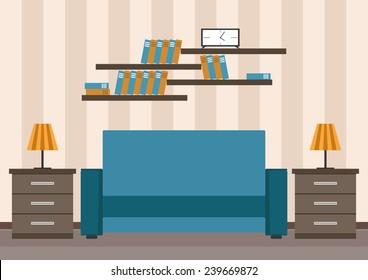 Vector illustration. Interior.