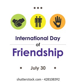 Vector Illustration International Day Of Friendship