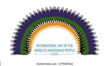 Vector Illustration of International Day of the World's Indigenous People. August 9.
