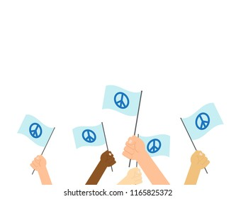 Vector illustration of international day of peace poster