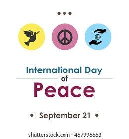 Vector Illustration For International Day Of Peace In September