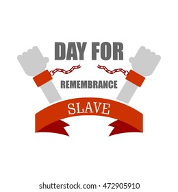 Vector illustration of International Day for the Remembrance of the Slave Trade and Its Abolition