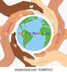 Vector illustration of International Day for Tolerance. 16 November