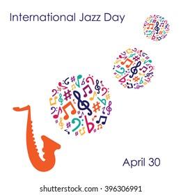 vector illustration / international jazz day