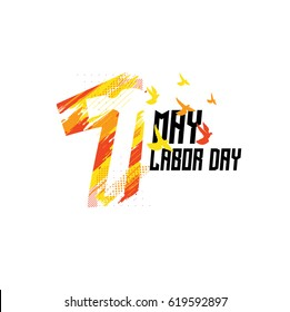 vector illustration for International Labor Day on May 1st, design elements icon label