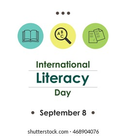 vector illustration for International Literacy Day  in september