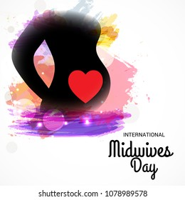 Vector illustration for International Midwives Day.