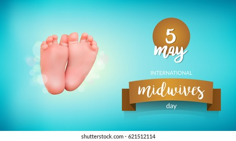 Vector illustration for International Midwives day greeting cards, Midwives day banners or print.