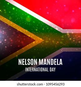 Vector illustration for International Nelson Mandela Day. Vector