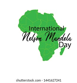 Vector illustration for International Nelson Mandela Day.