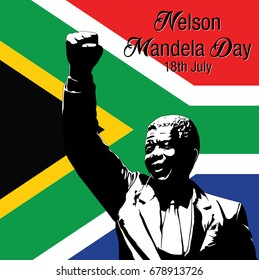 Vector illustration for International Nelson Mandela Day