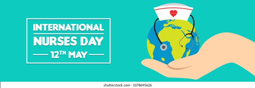 Vector illustration for International Nurse Day celebration. Can be used for poster, banner, background, icon, wallpaper, symbol, badge, label, and template design.