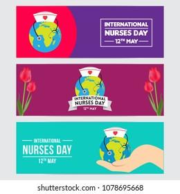 Vector Illustration For International Nurse Day Celebration Can Be Used Poster Banner