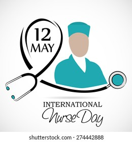 Vector illustration for International Nurse Day.