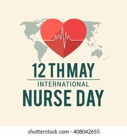 Vector illustration of International nurse day.