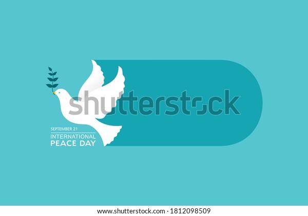 Vector Illustration of International Peace Day observed on September 21