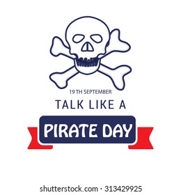 Vector illustration of International Talk Like A Pirate Day.
