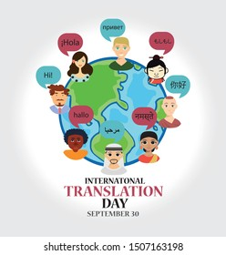 Vector Illustration of International Translation Day. Suitable for greeting card, poster and banner.