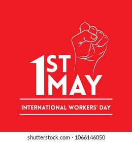 Vector illustration for International Workers' Day Celebration on May 1st, also known as May Day. Can be used for Greetings, Banner, Background, Template, Badge, Symbol, Icon, Logo and Print design.