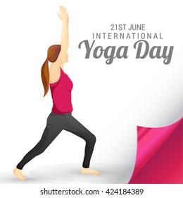 Vector illustration of international yoga day.