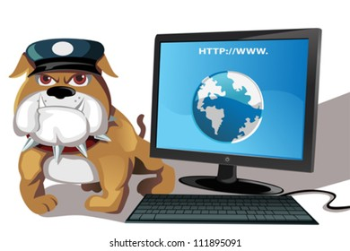 A vector illustration of internet or computer security concept