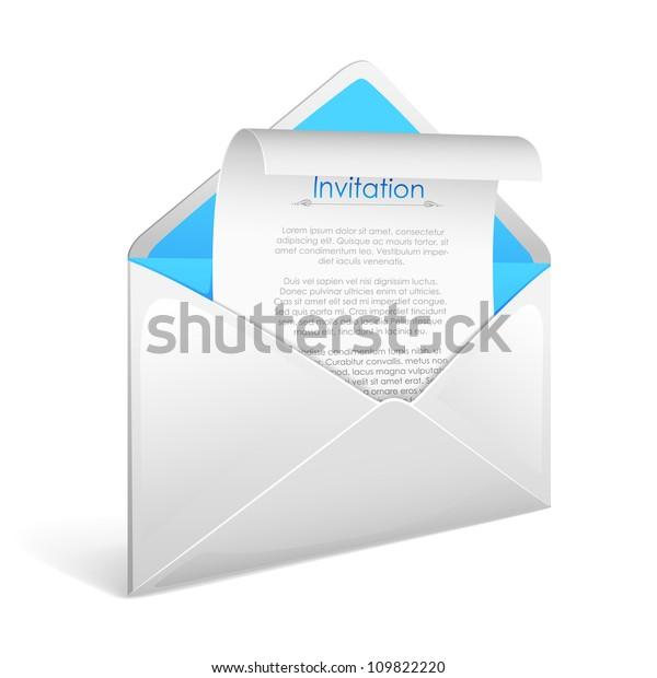 Vector Illustration Invitation Letter Envelope Stock Vector