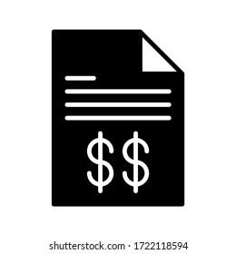 vector illustration of invoice icon