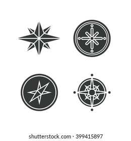 Vector illustration ion set of compasses
