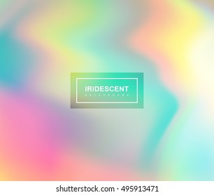 Vector illustration of iridescent rainbow fluids. Holographic neon effect. Applicable for flyer, banner, poster, brochure, cover. Spectrum colors
