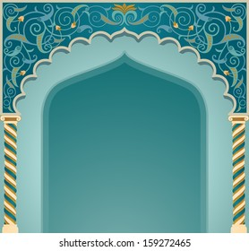 Vector illustration if islamic arch design in EPS10 format