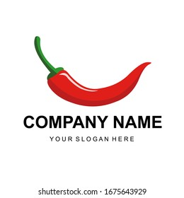 Vector illustration of isolated chili on a white background used for logos, magazines, books, posters, menu covers, and web pages.