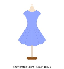Vector illustration of an isolated girl's dress on a mannequin.