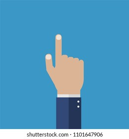 Vector illustration isolated Hand with pointing finger