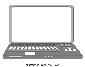 Vector illustration of isolated laptop.