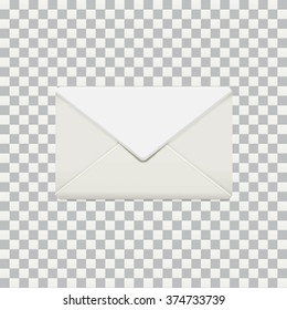 Vector illustration of isolated photo-realistic envelop mock up on transparent photoshop background EPS 10