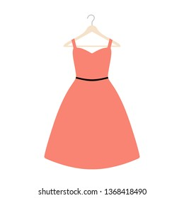 Vector illustration of an isolated plus size dress on a coat hanger.