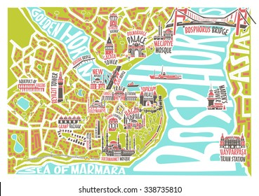 Vector illustration istanbul map