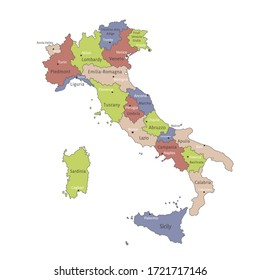 Cartina Italia Vettoriale.Mappa Italia Regioni Images Stock Photos Vectors Shutterstock