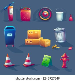 Vector illustration item set. For web, video games, user interface, design.