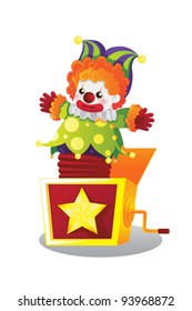 A vector illustration of  Jack in the box