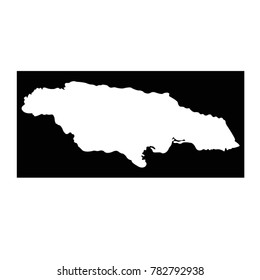 vector illustration of Jamaica map
