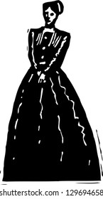 Vector illustration of Jane Eyre