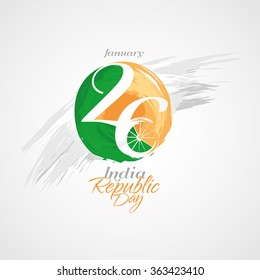 vector illustration January 26 Day of India stylish festive graphic background