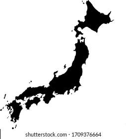 vector illustration of Japan map