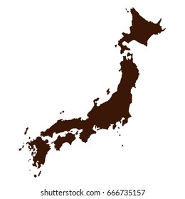 vector illustration of Japan map