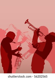 Vector illustration of jazz brass musician