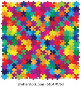 vector illustration of jigsaw puzzles colorful pieces for bright backgrounds designs