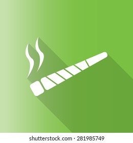 vector illustration of a joint or spliff. Drug abuse. Illegal drug activity with long shadow.